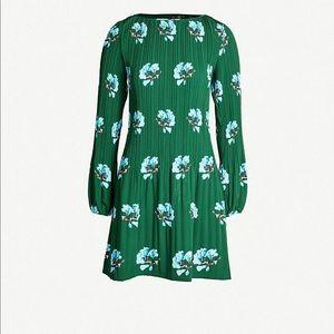 NWT MAJE Rockinett Floral-PrintPleated Crepe Dress